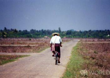 National missionary travelling on foot who visits many villages to share Jesus, & the Gospel for Asia gift of a bicycle that brought change.